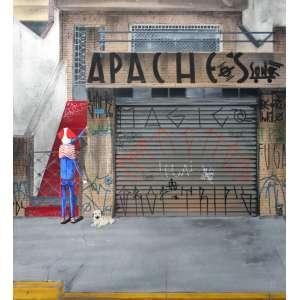 Sergio Free, Apache, Óleo sobre tela, 70 alt X 60 larg (cm), ass centro e verso, Ano: 2018