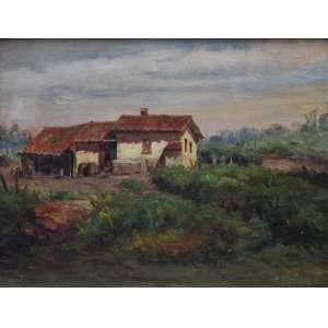 Edmundo Migliaccio, Casario, Óleo sobre tela, 25 alt X 34 larg (cm), acid
