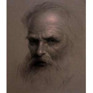 Edmundo Migliaccio, Leonardo da Vinci, Crayon, 35 alt X 24 larg (cm), acid