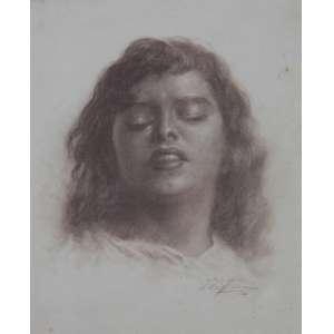 Edmundo Migliaccio, Estudo para expressão, Sanguínea sobre papel, 40 alt X 30 larg (cm), acid, Ano: 1949