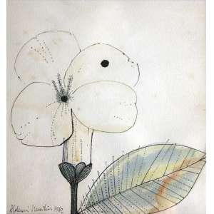 Aldemir Martins, Flor, Técnica mista sobre papel, 20 alt X 19 larg (cm), acie, Ano: 1962