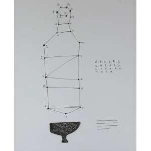 Gustavo Von Ha, ABCD, Desenho a nanquim, 40 alt X 29 larg (cm), ass. centro