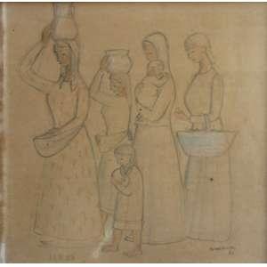 Fúlvio Pennacchi, Mulheres, Técnica mista sobre papel, 21 alt X 20 larg (cm), acid, Ano: 1983