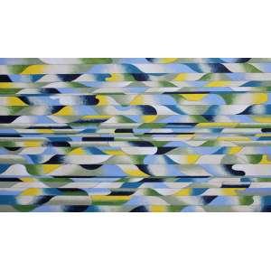 Luiz Carlos Ferracioli, Tropical 8, Acrílica sobre tela, 80 alt X 120 larg (cm), ass. no verso, Ano: 2017