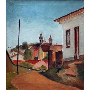 José Pancetti, São João Del Rey, Óleo sobre tela, 44 alt X 35 larg (cm), acid e verso, Ano: 1945
