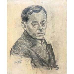 Mário Zanini, Figura Masculina, Crayon, 47 alt X 36 larg (cm), acie, Ano: 1965