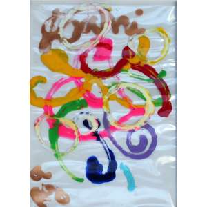 José Roberto Aguilar, Composição, Acrílica sobre plástico, 63 alt X 41 larg (cm), acie