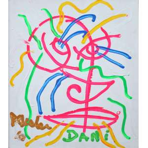 José Roberto Aguilar, Dani, Acrílica sobre placa, 60 alt X 50 larg (cm), acie