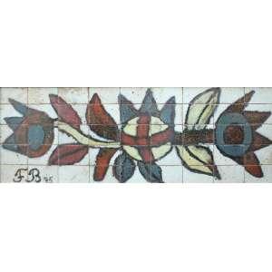 Francisco Brennand, Flores, Cerâmica, 50 alt X 150 larg (cm), acie, Ano: 1975