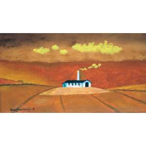 Manezinho Araujo, Fabrica, Óleo sobre tela, 13 alt X 22 larg (cm), acie, Ano: 1985