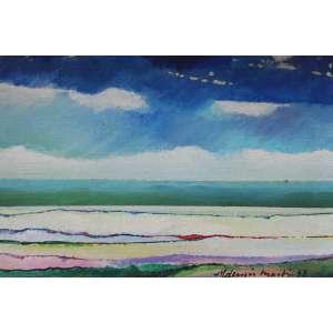 Aldemir Martins, Marinha, Acrílica sobre tela, 16 alt X 20 larg (cm), acid e verso, Ano: 1983