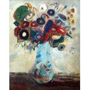 Rodrigo de Haro, Vaso de Flores, Óleo sobre placa, 67 alt X 52 larg (cm), acid, Ano: 1963