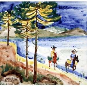 Frans Krajcberg, Retirantes, Azulejo, 15 alt X 15 larg (cm), acid