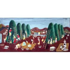 Fúlvio Pennacchi, Cafezal, Óleo sobre placa, 35 alt X 70 larg (cm), acsd, Ano: 1989 -Histórico: Publicado no Livro Oficio de Penacchi pág. 56