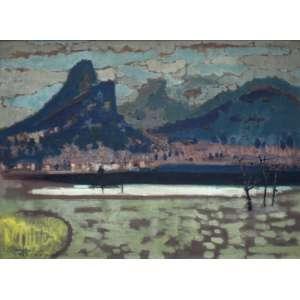 Manabu Mabe, Paisagem Rio de Janeiro, Óleo sobre tela, 50 alt X 65 larg (cm), acie, Ano: 1957