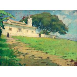 Dario Mecatti, Casario, Óleo sobre madeira, 34 alt X 45 larg (cm), acid