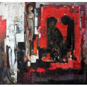 Dario Mecatti, Composição, Óleo sobre tela, 100 alt X 100 larg (cm), acid
