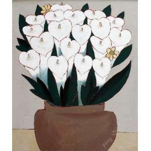 Fang, Vaso de Flores, Óleo sobre tela, 56 alt X 46 larg (cm), acid