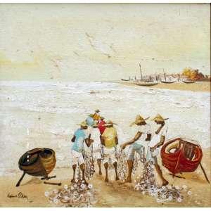 Erico da Silva, Um Dia Claro de Verão, Óleo sobre tela, 30 alt X 30 larg (cm), acie e verso -Histórico: Obra apresenta pequenos Detalhes