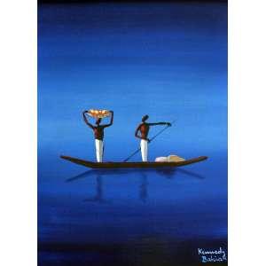 Kennedy Bahia, Jangada com Pescadores, Óleo sobre tela, 54 alt X 37 larg (cm), acid