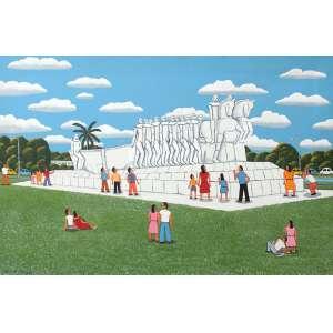 Agostinho Batista de Freitas, Monumento as Bandeira, Óleo sobre tela, 80 alt X 120 larg (cm), acie, Ano: 1989