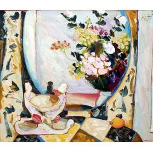 Sou Kit Gom, Composição, Óleo sobre tela, 100 alt X 110 larg (cm), acie e verso, Ano: 2003