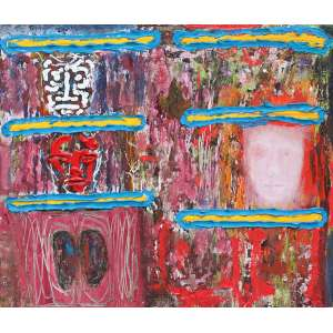 Siron Franco, Faces, Óleo sobre tela, 80 alt X 90 larg (cm), ass. no verso