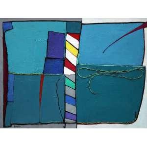 Inos Corradin, Exposicion due Vision (Venezia), Óleo sobre tela, 60 alt X 80 larg (cm), acie e verso