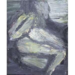 Antônio H. Cabral, Composição, Óleo sobre tela, 100 alt X 80 larg (cm), ass. no verso, Ano: 1990