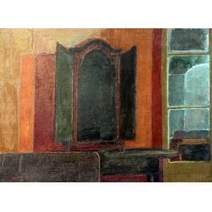 Ivan Marquetti, Interior com Oratório, Óleo sobre tela, 54 alt X 73 larg (cm), acie e verso, Ano: 1971