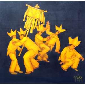 Mário Gruber, Serie Amarelo Ouro, Óleo sobre tela, 100 alt X 100 larg (cm), acid e verso, Ano: 2008