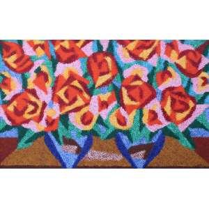 Cláudio Tozzi, Flores, Óleo s/ tela s/madeira, 81 alt X 121 larg (cm), acid e verso
