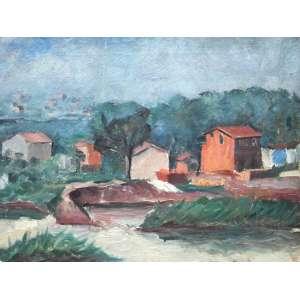 Joaquim Lopes Figueira, Margens do Tiete, Óleo sobre tela, 35 alt X 45 larg (cm), acie