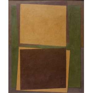 Arcângelo Ianelli, Abstrato em Verde e Marrom, Óleo sobre tela, 100 alt X 80 larg (cm), acid, Ano: 1973 (obra Acompanha Certificado emitido por Katia Vaz Ianelli)