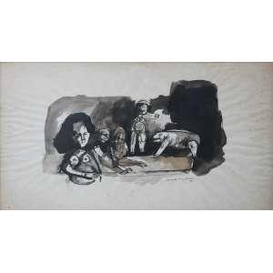 Roberto Magalhães, Figuras, Nanquim, 31 alt X 48 larg (cm), acid, Ano: 1963