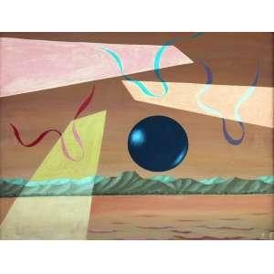 Walter Lewy, Composição, Óleo sobre tela, 75 alt X 90 larg (cm), acid