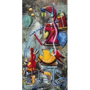 Alemão, Sigam - me os Bons, Óleo sobre tela, 80 alt X 40 larg (cm), acid e verso, Ano: 2018 -Histórico: Obra sobre o Numero 000897