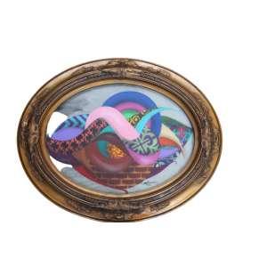 Gen Duarte, Composição, Óleo s/ tela colada em placa, 30 alt X 40 larg (cm), acid, Ano: 2016