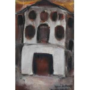 Jose de Dome, Casarão, Óleo sobre tela, 33 alt X 19 larg (cm), acid e verso, Ano: 1972