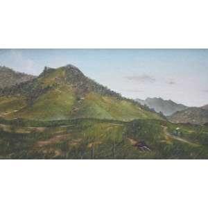Eduardo Camões, Paisagem, Óleo sobre tela, 20 alt X 40 larg (cm), acie e verso, Ano: 1982