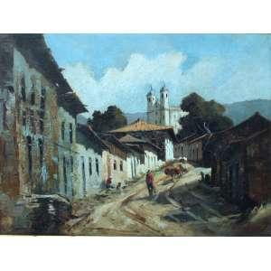 Durval Pereira, Ouro Preto, Óleo sobre tela, 60 alt X 80 larg (cm), acid, Ano: 1961