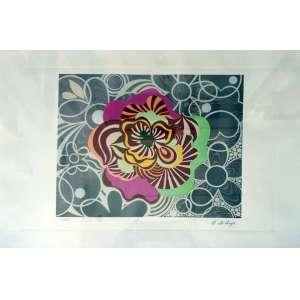 Beatriz Milhazes, Water Dreaming, Serigrafia, 38 alt X 56 larg (cm), acsd, 64/250 (Com Certificado D&P Luxemburgo)