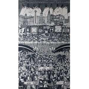 David Dalmau, Las Vegas, Acrílica sobre tela, 370 alt X 200 larg (cm), acid (Obra Acompanha Certificado)