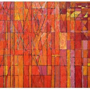 Gonçalo Ivo, Geométrico, Óleo sobre tela, 80 alt X 80 larg (cm), ass. no verso, Ano: 1988 -Histórico: Com selo da Galeria Oscar Seraphico