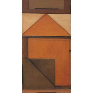 Macaparana, Geométrico, Óleo sobre tela, 130 alt X 60 larg (cm), acid e verso,(Com selo do Museu de Arte Brasileira FAAP 1985)