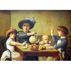 Reynaldo Fonseca, Familia, Óleo sobre placa, 73 alt X 100 larg (cm), acie e verso, Ano: 1997