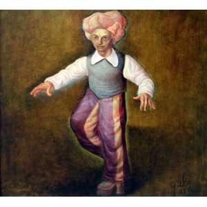 Mário Gruber, Menino Fantasiado, Óleo sobre tela, 65 alt X 65 larg (cm), acid, Ano: 2003