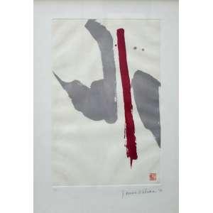 Tomie Ohtake, Composição em Vinho, Litografia, 79 alt X 53 larg (cm), acid, Ano: 1990, P/A