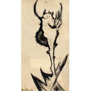 Niobe Xandó, Flor fantástica, Óleo sobre papel, 0,2 alt X 0,1 larg (cm), acie, Ano: 1962 -Histórico: Com registro no verso NX02500/0708