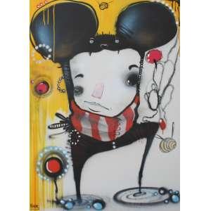Andy Houp, Composição, Spray sobre tela, 130 alt X 91 larg (cm), acie